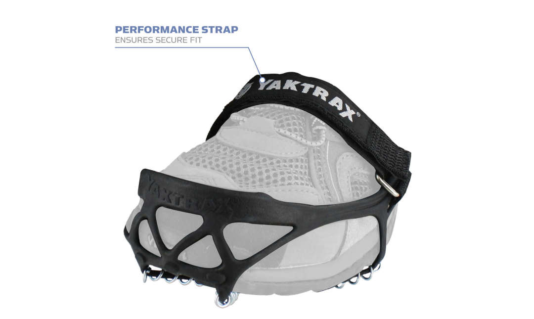 The Yaktrax Pro has a performance strap that ensures a secure fit.